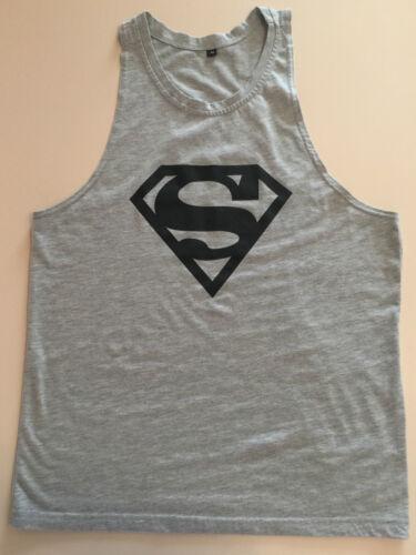 SUPERMAN MEN/'S VEST BODYBUILDING GYM MUSCLE SHIRT SLEEVELESS TANK TOP NEW