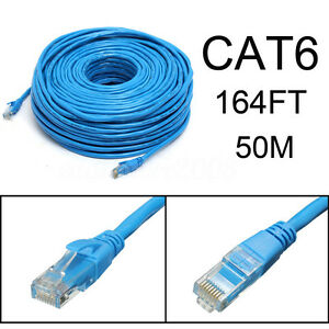 blue 50m 164feet rj45 cat6 cat6e ethernet internet lan. Black Bedroom Furniture Sets. Home Design Ideas