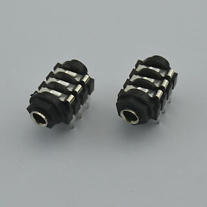 """2,6.35mm 1/4"""" Stereo Insulated Switched Socket Jack for guitar,FREE shipping new"""
