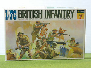 Details about 176 SCALE WWII BRITISH 8TH ARMY INFANTRY SET BY FUJIMI