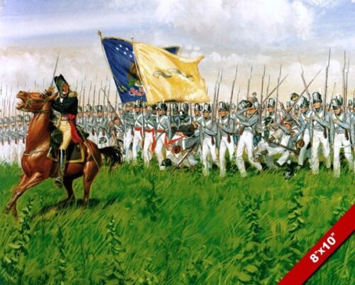 BATTLE OF CHIPPAWA WAR OF 1812 US ARMY OIL PAINTING ART REAL CANVAS GICLEEPRINT