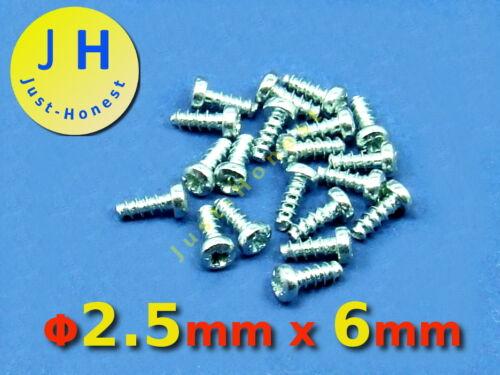 Stk.20x Schrauben 2.5 mm x 6 mm Screws für//for Kunststoff 2,5 x 6 mm  #A333