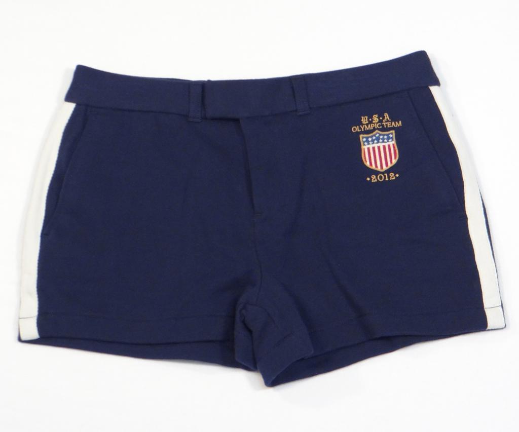 Ralph Lauren USA Olympic Team 2012 Navy bluee Cotton Shorts Women's NWT