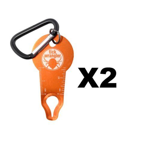 2-Pack Ultimate Survival Technologies Tick Wrangler Aluminum Tick Remover Kit