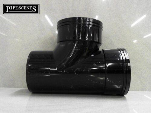 Black Glued D//S Solvent 110mm Soil Pipe Swept Tee Branch Double Socket