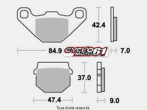 Plaquettes de frein arrière Gilera SMT 50 2011 à 2016 (S1087)
