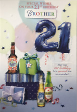 21st Birthday Card Male Titles Son Brother Nephew Grandson Great