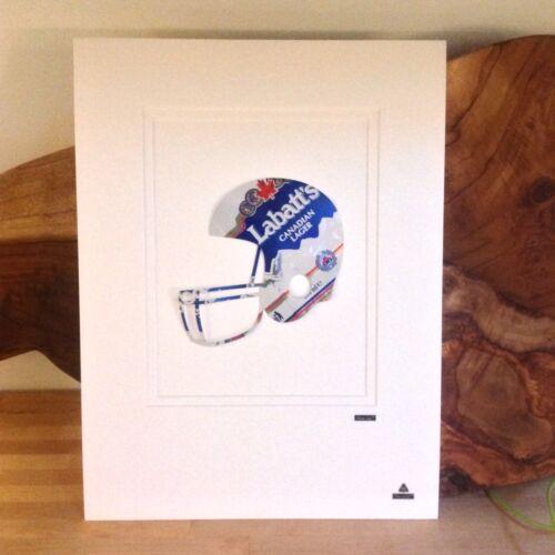Martin Allen pueden Arte Monte Labatts casco de fútbol DISPONIBLE encuadre