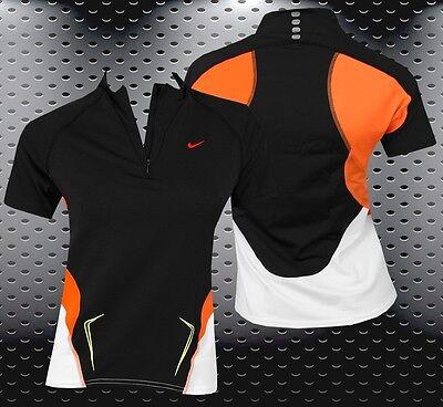 Obligatorisch Nike Damen Laufshirt Fitness Shirt Running Shirt Sport Top Polo Schwarz Xxs Xs S GüNstige VerkäUfe