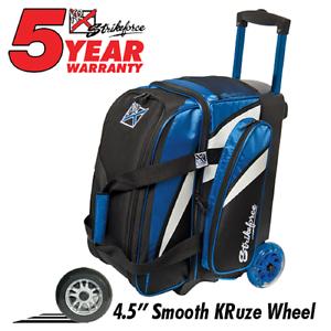 KR Cruiser Premium 2 Ball Roller Bowling Bag color Royal bluee