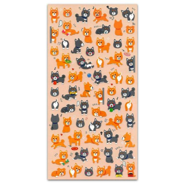 Cute Dog Stickers Vinyl Sticker Sheet Kids Craft Scrapbook Shiba Inu