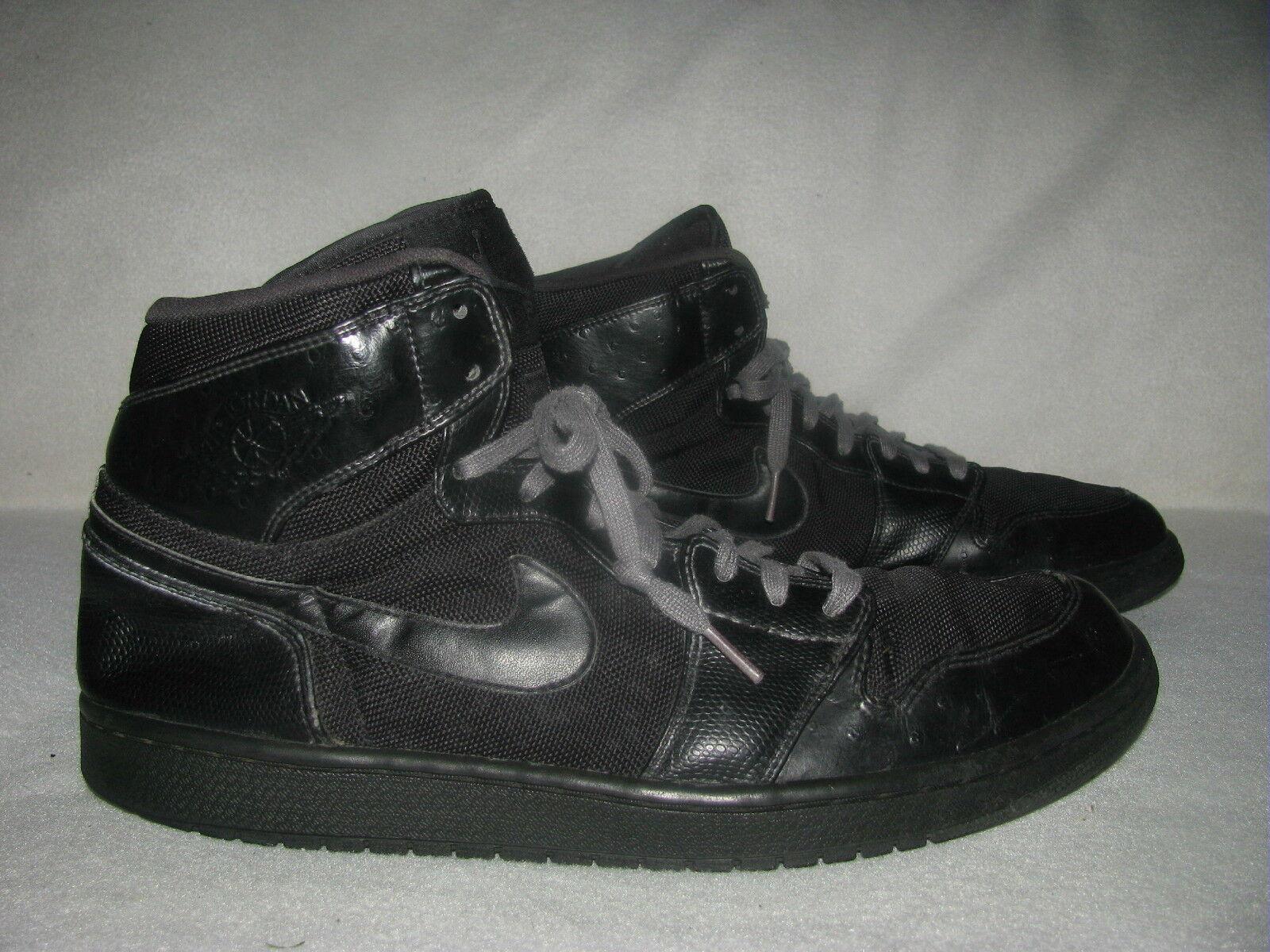 Nike Air Jordan 1 Retro Alta Negro 332550002 para Hombre Antracita Zapatillas 332550002 Negro 6e6047