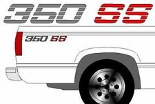 350 SS Chevy Truck 4x4 Off Road Silverado 1500 Sticker Vinyl Decal  2 set