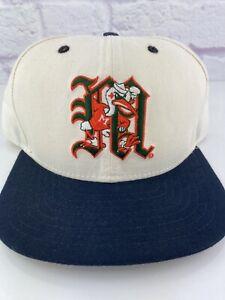 RARE-Vintage-90s-NCAA-Miami-Hurricanes-New-Era-Pro-Model-Hat-Snapback-NWOT