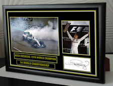 """Nico Rosberg canvas tribute signed Limited Edition """"Great Gift / Souvenir"""""""