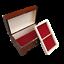 Di-Legno-Grande-Rosso-Gioielli-Chest-IN-Marrone-Colore-Serratura-e-Chiave miniatura 5