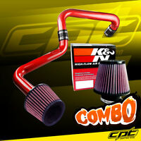 01-05 Honda Civic Automatic 1.7l Red Cold Air Intake + K&n Air Filter