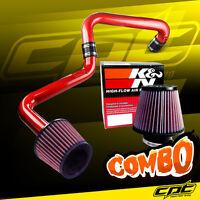 01-05 Honda Civic Automatic 1.7l Red Cold Air Intake + K&n Air Filter