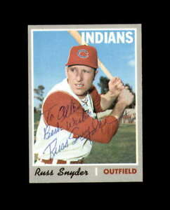 Russ Snyder Hand Signed 1970 Topps Cleveland Indians Autograph