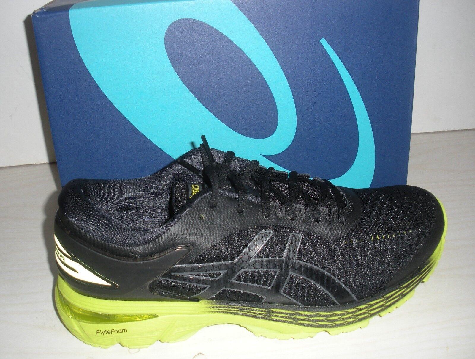ASICS MENS GEL -KAYANO 25 RUNNING  scarpe da ginnastica -scarpe -1011A019 -001 - nero   NEON LIME  il più recente