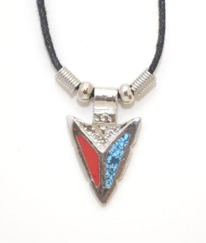 with Gift Box Turquoise /& Coral Arrowhead Necklace 18 inch Black Cording