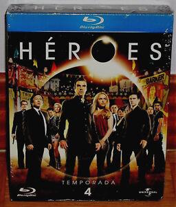 Detalles de HEROES 4ª TEMPORADA COMPLETA 4 BLU-RAY NUEVO PRECINTADO SERIE  (SIN ABRIR) R2