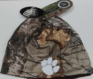 new concept e8892 eb7ae Image is loading Clemson-Tigers-Reversible-Realtree-Xtra-Camo-Knit-Hat-
