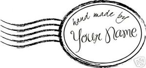 UNMOUNTED-PERSONALIZED-039-HAND-MADE-BY-039-RUBBER-STAMPS-H70