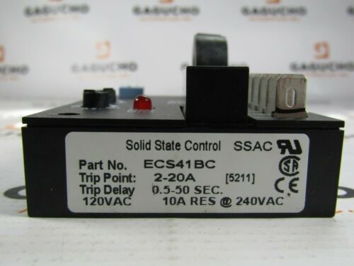 NEW IN BOX SSAC SOLID STATE   ECS41BC 120-240VAC Current Sensor NIB