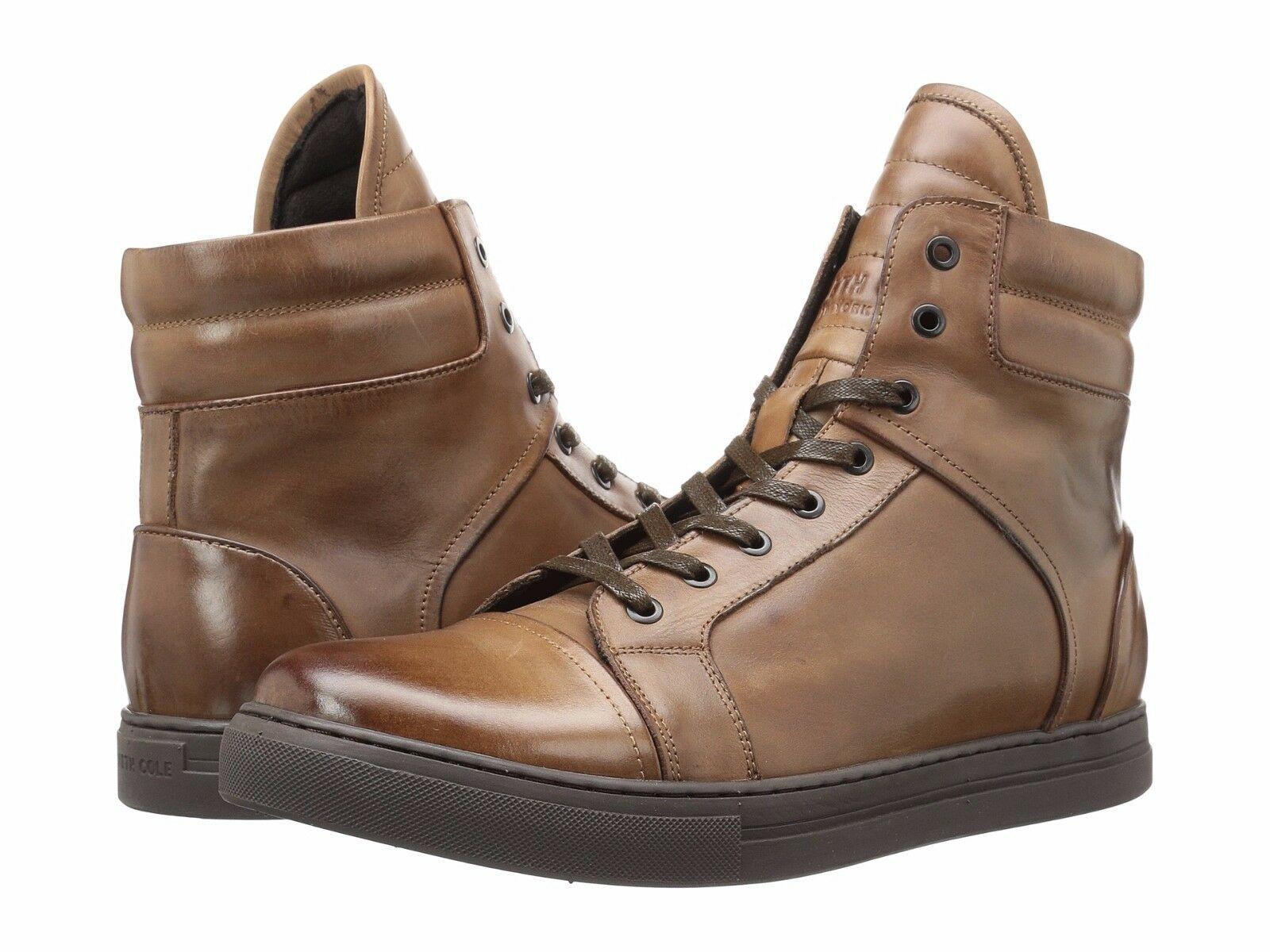 Uomo Shoes Kenneth Cole Double Header High Top Sneaker KMFLE036 Brown  *New*