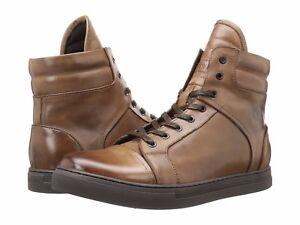 Scarpe-da-uomo-Kenneth-Cole-DOPPIA-intestazione-High-Top-Sneaker-kmfle-036-marrone-NUOVO