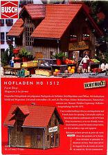 + NEU /& OVP BUSCH 1512 H0 Hofladen