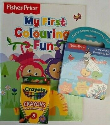 Fisher Price My First Copy Colour Colouring Book Crayola Crayons /& Sticker Book