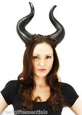 DELUXE MALEFICENT HORNS Black Hat Costume Angelina Jolie Devil Minotaur DISNEY