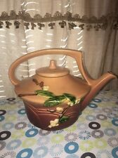 Roseville Snowberry 1TP teapot and lid Nice No Chip Or Crack