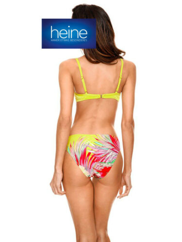 Kp 79,90 € SALE/%/%/% Nuovo!! COPPA B Heine Floreale Print PUSH-UP Bikini
