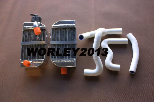 Aluminum radiator + White hose for KTM 50 SX SXS MINI 50cc 49cc 2012-2017