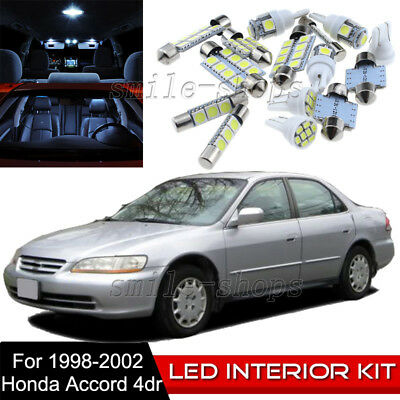 12Pcs Car Interior LED Light Package Bulb Kit For 1998-2002 Honda Accord 1Yr Wty
