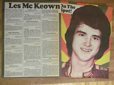 Bay City Rollers, Les McKeown, Two Page Vintage Clipping