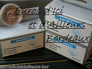 LOT-de-4-CAPSULES-Ideal-pour-pieces-10-euros-des-REGIONS-Diametre-29-mm