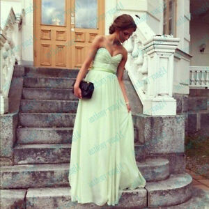 A-line-Strapless-Sweetheart-Sash-Chiffon-Prom-Evening-Party-Dress-SZ-4-14-Stock
