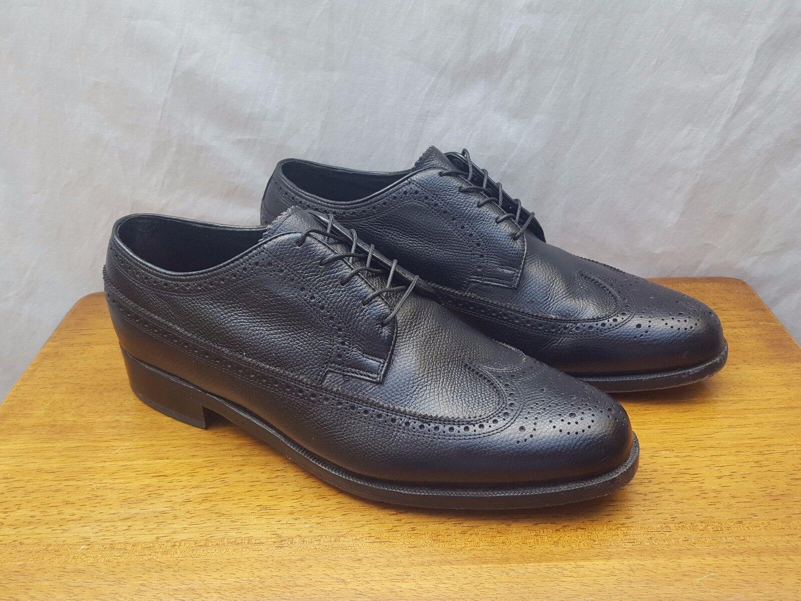 Men's Florsheim 75824 Black Brogue Wingtip Oxford new shoes shoes - Size 9 3E