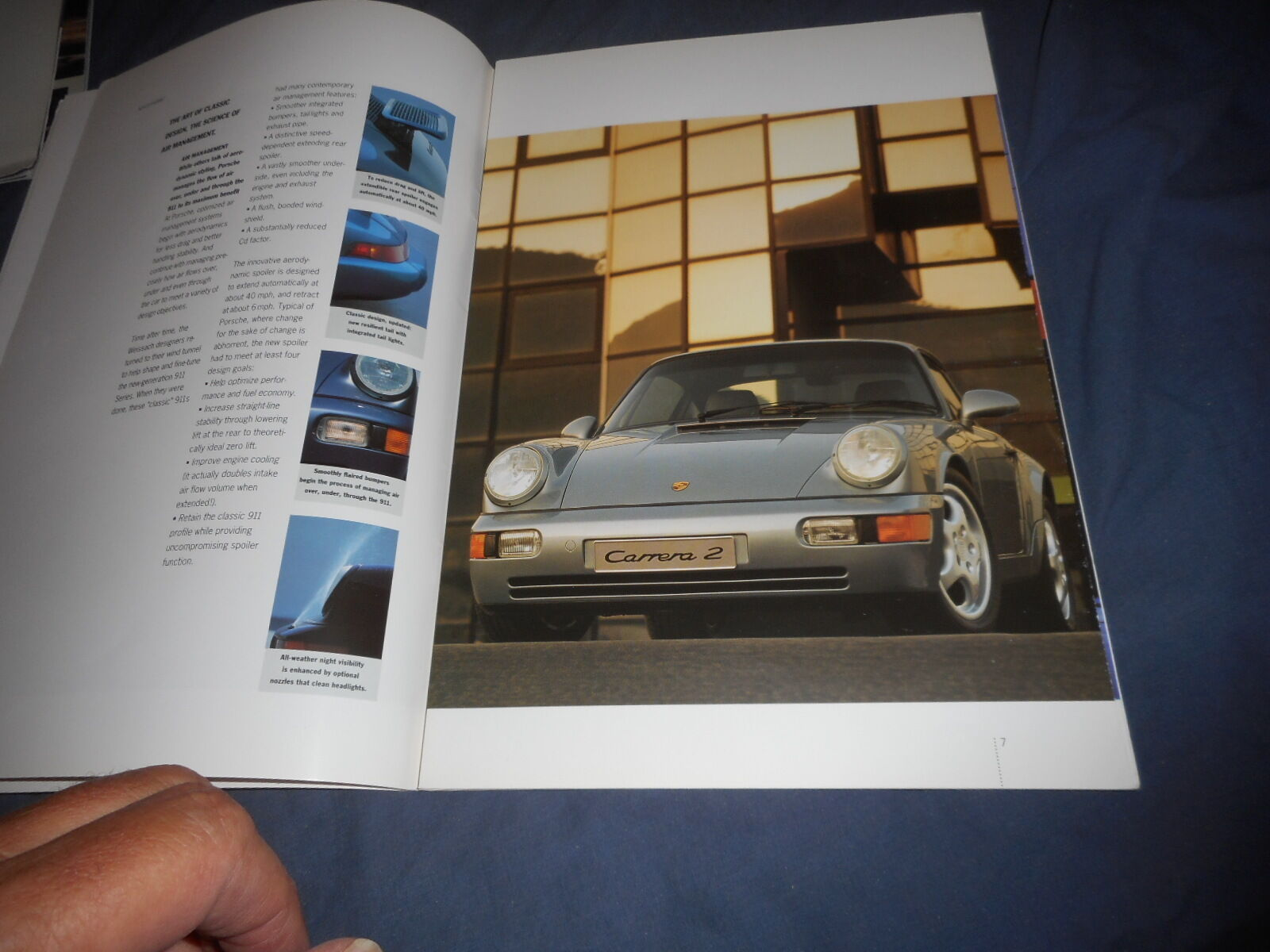 MINT 1993 Porsche 911 Carrera /& Roadster America Brochure Catalog w//Data Insert