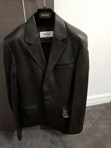 Versace-Collections-Mens-Lamb-Leather-Jacket-coat-Worn-Once-Small-Fitted