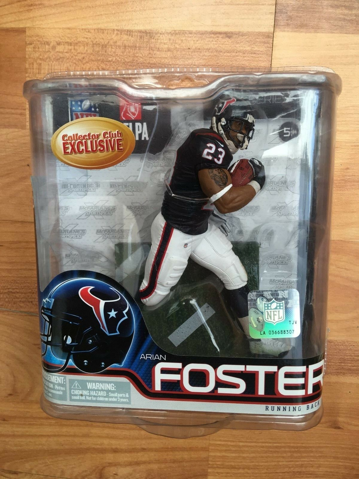 BNIB MCFARLANE AMERICAN FOOTBALL NFL 31 SERIES ARIAN FOSTER EXCLUSIVE    FIGURE