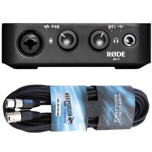 Rode-AI-1-USB-Audio-Interface-XLR-Kabel