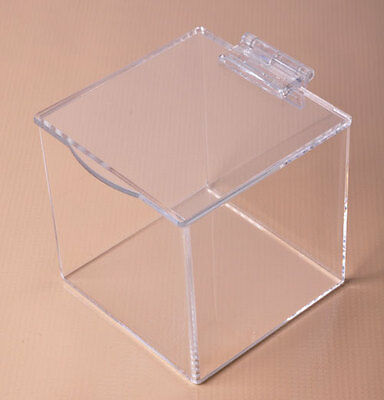 Flip Top Lidded BoxAcrylic Bin with LidStorage CubesFree Shipping in US