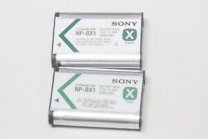 Occasion, testées OK : Lot de 2 x  Batterie ORIGINALE - SONY NP-BX1