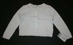 2b15b287b New Carter's Girls White Cardigan Sweater Heart Pointelle Design 6 7 ...