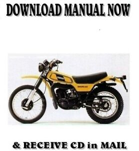 1977 Yamaha Dt250 Dt400 Factory Repair Shop Service Manual On Cd Ebay